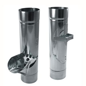 """Zambelli 4"""" Inline Downspout Cleanouts for ZInc Half-Round Gutter Systems"""