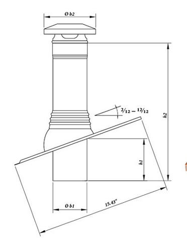 Dimensions of the copper vent pipe flexible boots offered by Rapid Materials